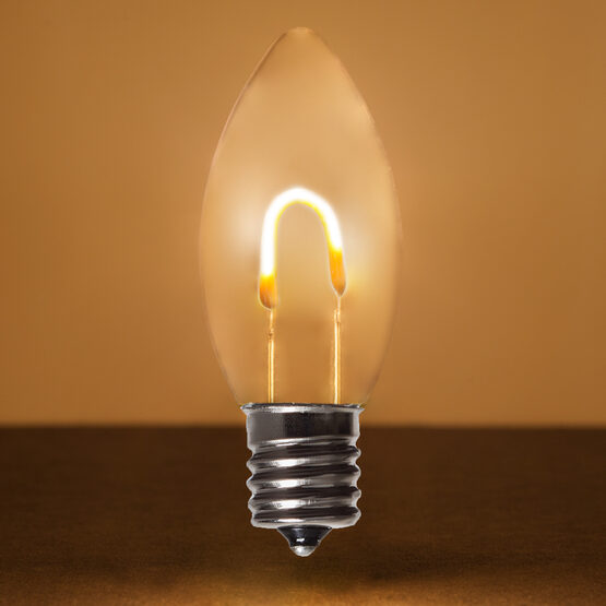 C9 Shatterproof FlexFilament TM Vintage LED Light Bulb, Warm White