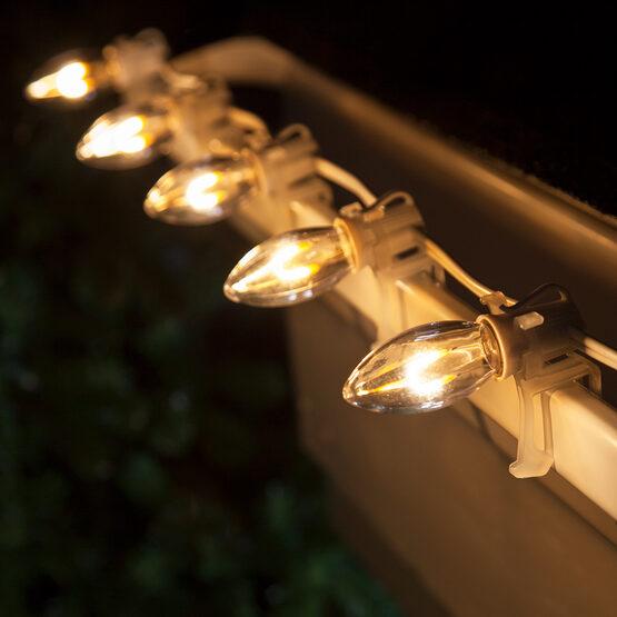 C9 Shatterproof FlexFilament Vintage LED Light Bulb, Warm White