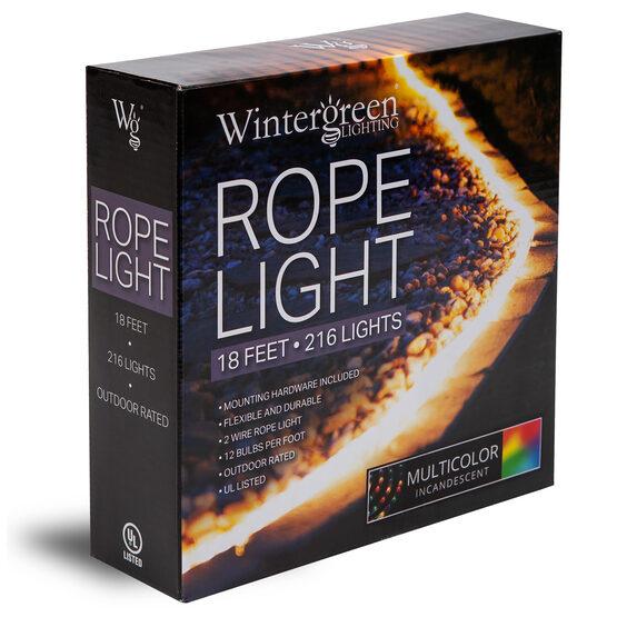 "18' Multicolor Rope Light, 120 Volt, 1/2"""
