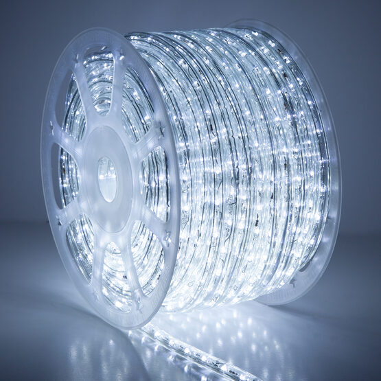 150' Cool White Twinkle LED Rope Light, 120 Volt, 1/2""