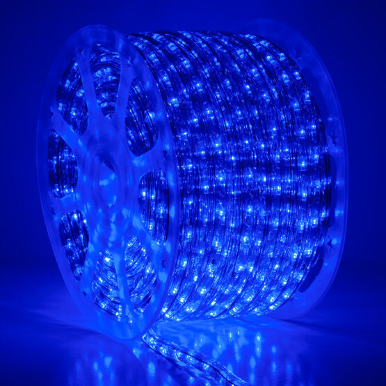 Blue LED Rope Light, 120 Volt