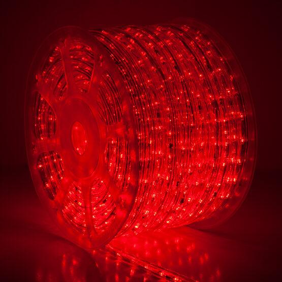 Red LED Rope Light, 120 Volt