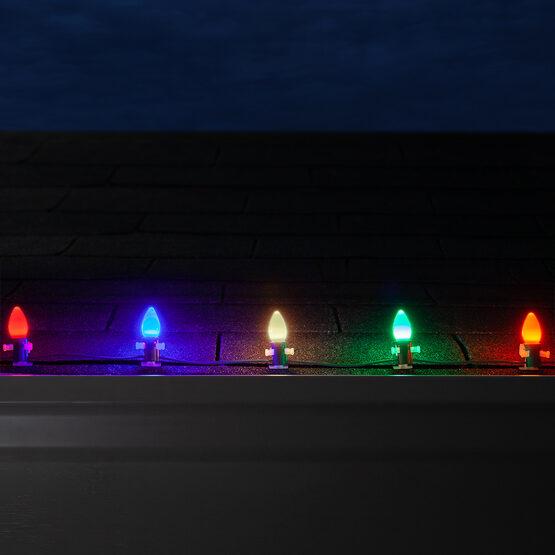 C7 Smooth OptiCore LED Light Bulbs, Multicolor
