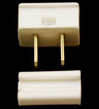 SPT1 Polarized Male Zip Plug, Ivory