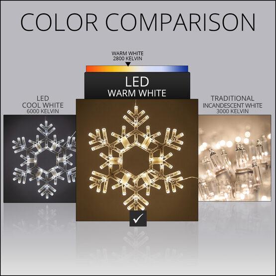 LED Folding Snowflake, Warm White Lights