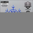 """36"""" LED Folding Snowflake, Blue and Cool White Lights"""