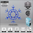 LED Folding Snowflake, Blue and Cool White Lights