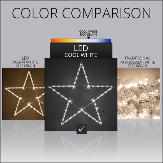"32"" LED 5 Point Folding Star, Cool White Lights"