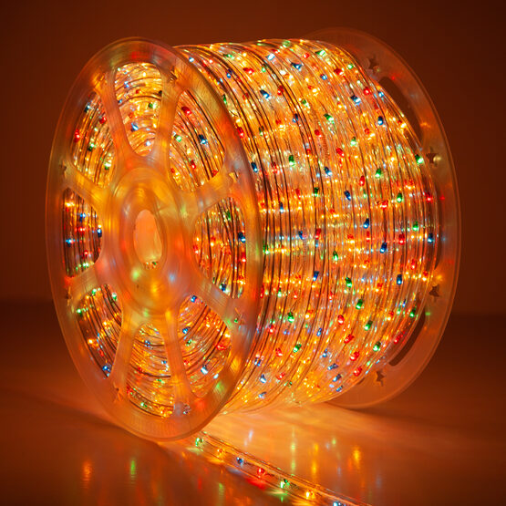 150' Multicolor Rope Light, 120 Volt, 1/2""