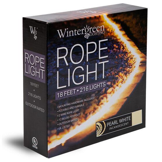 """18' Pearl White Rope Light, 120 Volt, 1/2"""""""