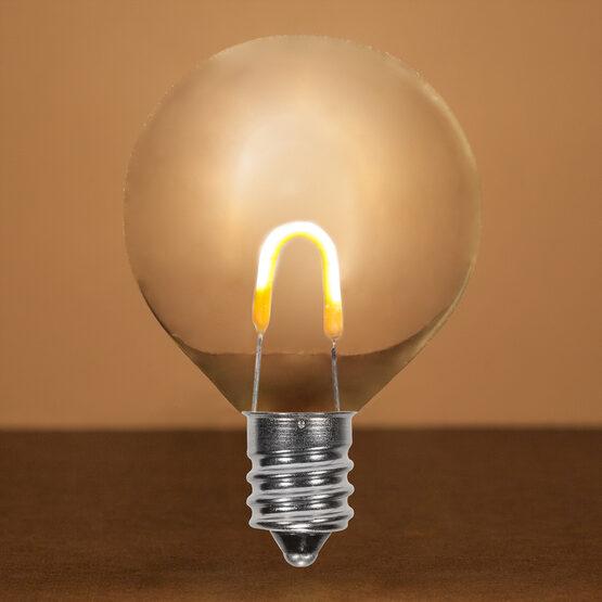 G50 Shatterproof FlexFilament TM Vintage LED Light Bulb, Warm White, E12 Base