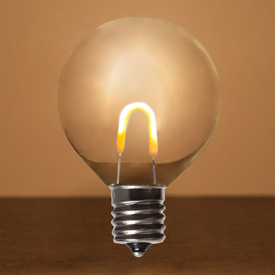 G50 Shatterproof FlexFilament TM Vintage LED Light Bulb, Warm White, E17 Base