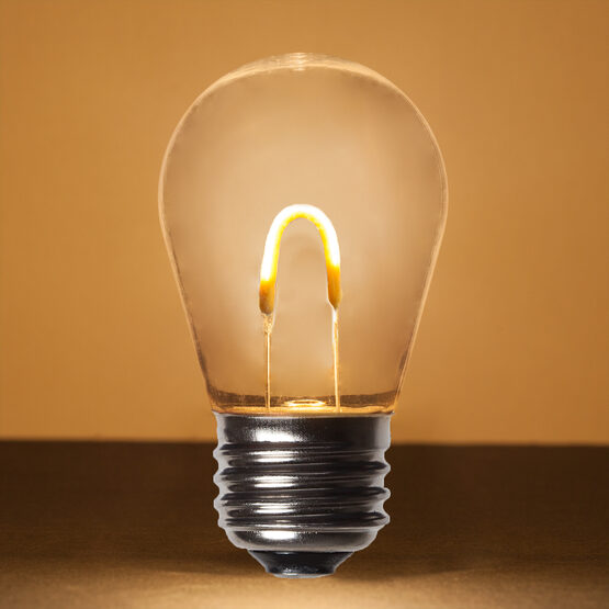 S14 Shatterproof FlexFilament Vintage LED Light Bulb, Warm White