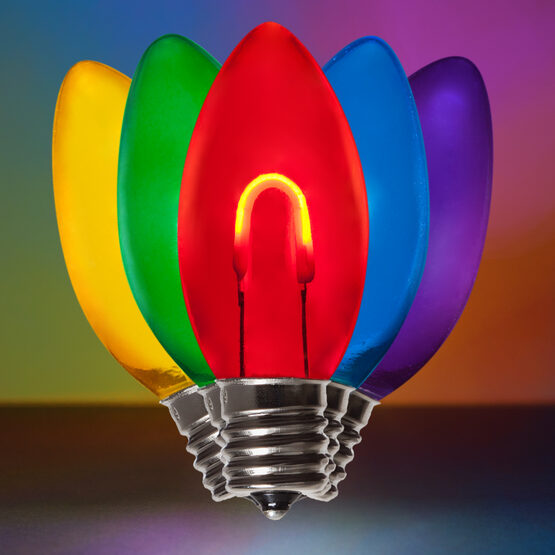 C9 Shatterproof FlexFilament Vintage LED Light Bulb, Multicolor