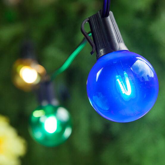 G50 Shatterproof FlexFilament TM Vintage LED Light Bulb, Multicolor, E12 Base