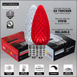 Opticore TM C9 Commercial LED String Lights, Red/Cool White
