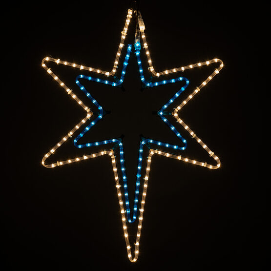 Bethlehem Star With A Blue Center
