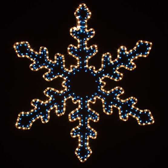 Star Flower Snowflake, Blue and Clear Lights