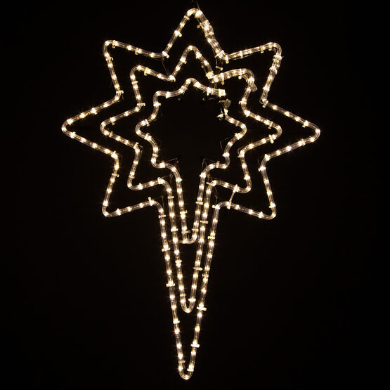 Triple Bethlehem Star, Clear Lights