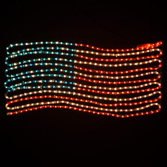 Rope Light Patriotic Flag