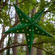 Green Aurora Superstar TM 5 Point Star Lantern, Fold-Flat, LED Lights