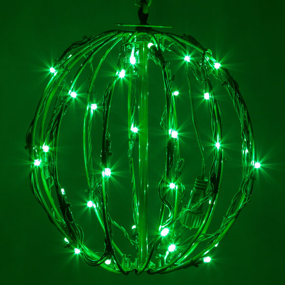 Light Ball, Fold Flat Green Frame, Green LED