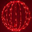"""16"""" Light Ball, Fold Flat Red Frame, Red LED"""