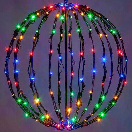 Light Ball, Fold Flat Black Frame, Multicolor LED