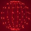 "16"" Fairy Light Ball, Fold Flat Red Frame, Red LED"