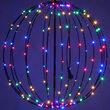 "16"" Fairy Light Ball, Fold Flat Black Frame, Multicolor LED"