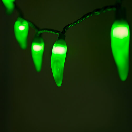 Chili Pepper Light Set, 35 Green Lights