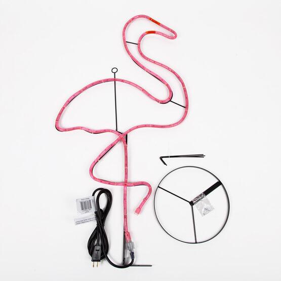 "37"" Standing Flamingo, Pink Lights"