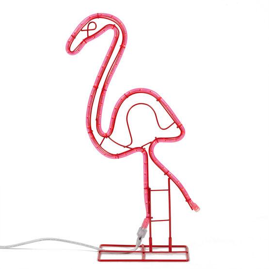 "24"" Flamingo Motif, Pink Lights"