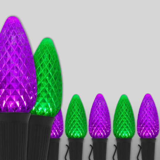 Opticore TM C9 Commercial LED String Lights, Purple/Green