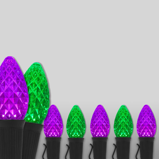 Opticore TM C7 Commercial LED String Lights, Purple/Green