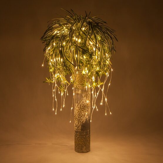 White Falling Willow LED Lighted Branches, Warm White Lights, 1 pc
