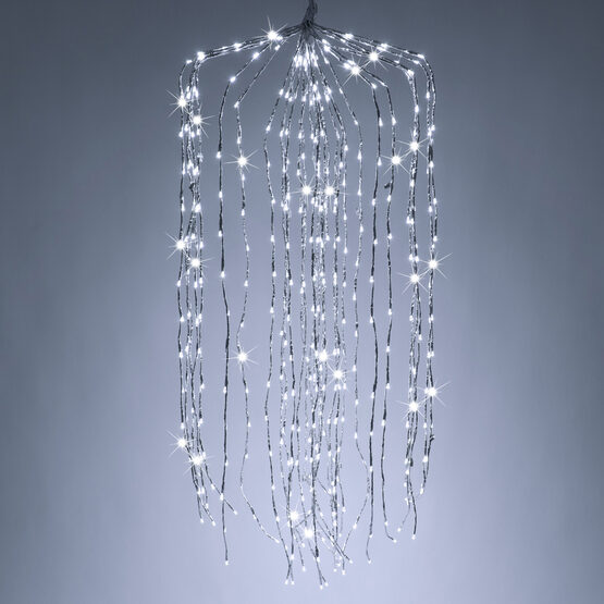 """36"""" Silver Falling Willow LED Lighted Branches, Cool White Twinkle Lights, 1 pc"""