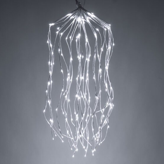 White Falling Willow LED Lighted Branches, Cool White Lights, 1 pc