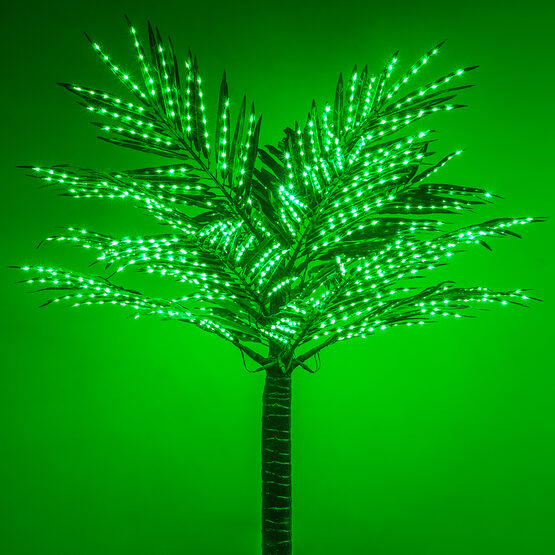 6' Classic Commercial LED Lighted Palm Tree with Green Canopy