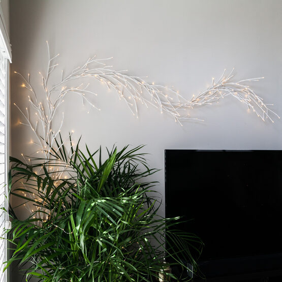 White Climbing Vine LED Lighted Branches, Warm White Lights, 1 pc