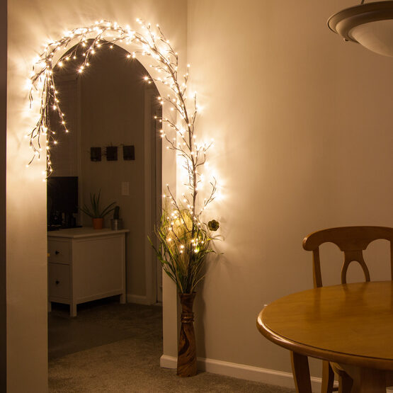 Brown Climbing Vine LED Lighted Branches, Warm White Lights, 1 pc