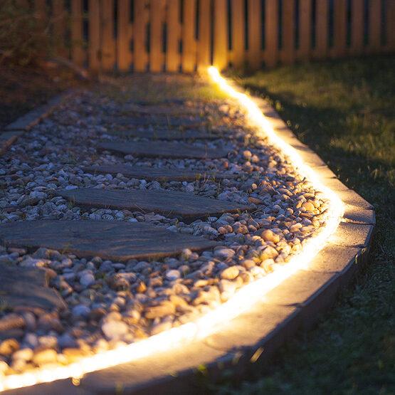 Warm White LED Rope Light, 120 Volt