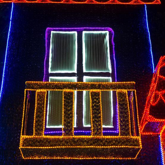 "18' Yellow Rope Light, 120 Volt, 1/2"""