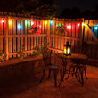 Globe String Light Set, Multicolor G50 FlexFilament TM Shatterproof LED Bulbs, White Wire