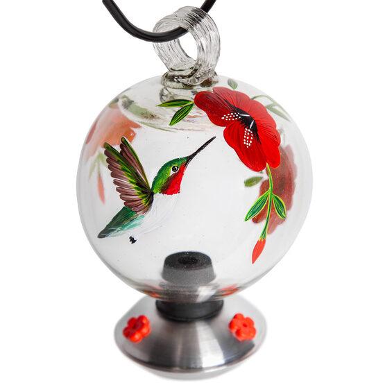 Dew Drop Botanica Glass Hummingbird Feeder