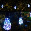 Commercial Patio String Lights, RGB Color Change ST64 LEDimagine TM Fairy Light Bulbs, Suspended, Black Wire