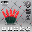 4' x 6' M5 LED Net Lights, Red, Green Wire