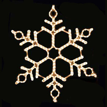 Honeycomb Snowflake, Clear Lights