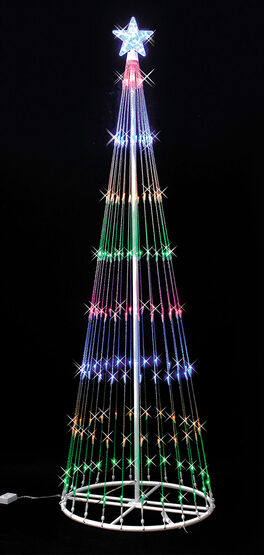 6' Multi LED Lightshow Tree