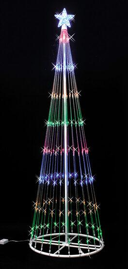 6' Multi LED Lightshow Tree
